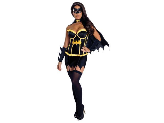 Justice League Sexy Batgirl Corset Costume Adult X-Small