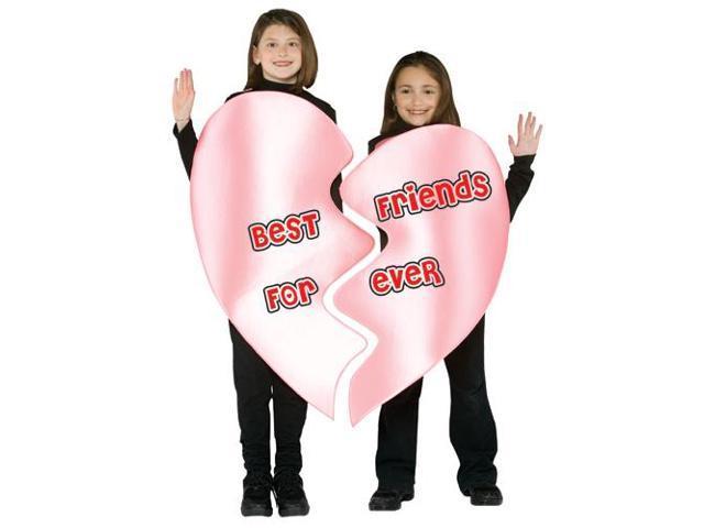 Best Friends Forever Heart Child Costume Medium