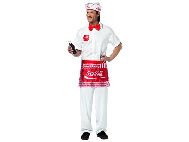Coca Cola Soda Jerk Costume Adult One Size Fits Most