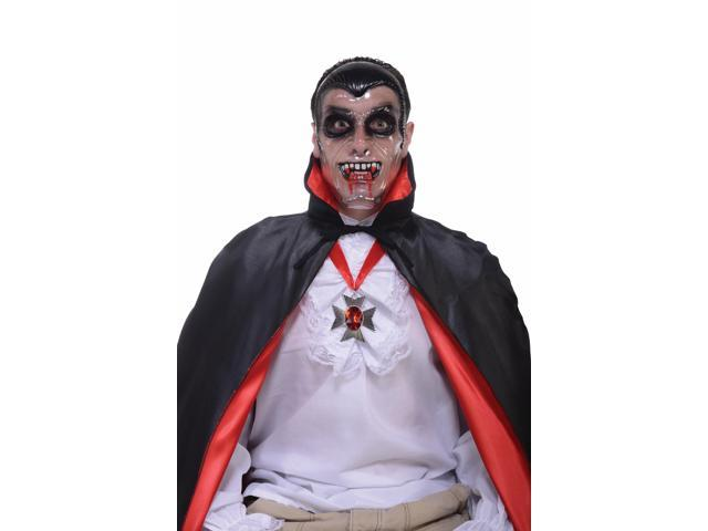 Transparent Costume Mask Adult : Vampire One Size