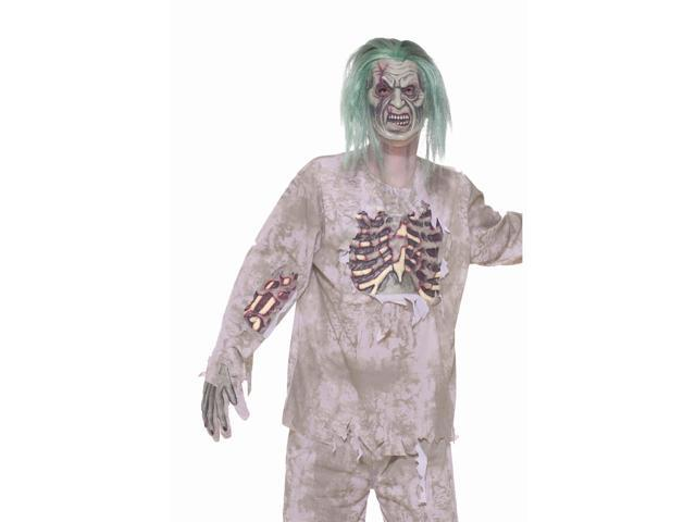 Zombie Shirt w/Blood Stains & Bones Costume Adult Standard