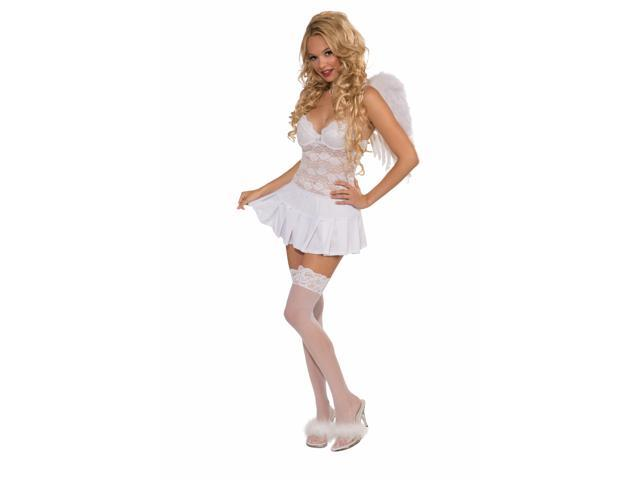 Sexy Costume Mini Skirt Adult: White One Size Fits Most