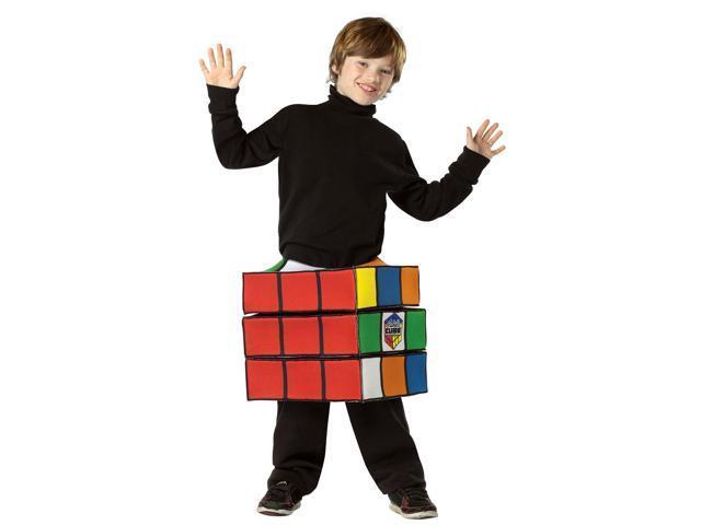 Rubik's Cube Costume Child Tween 10-16
