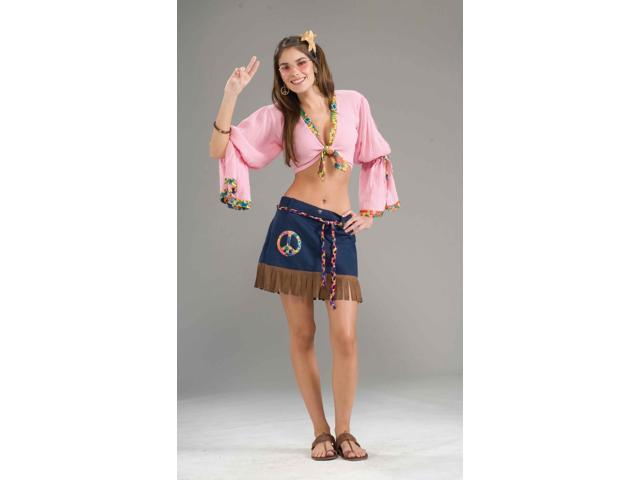 Sexy Generation Hippie Chickie Costume Skirt Adult One Size Fits Most