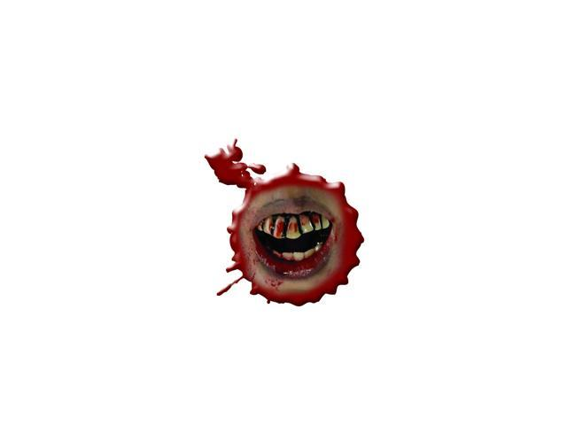 The Walking Dead Bloody Teeth Costume Prosthetic Adult One Size