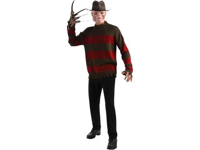 Nightmare On Elm Street Deluxe Freddy Sweater Costume Adult Plus Plus Size