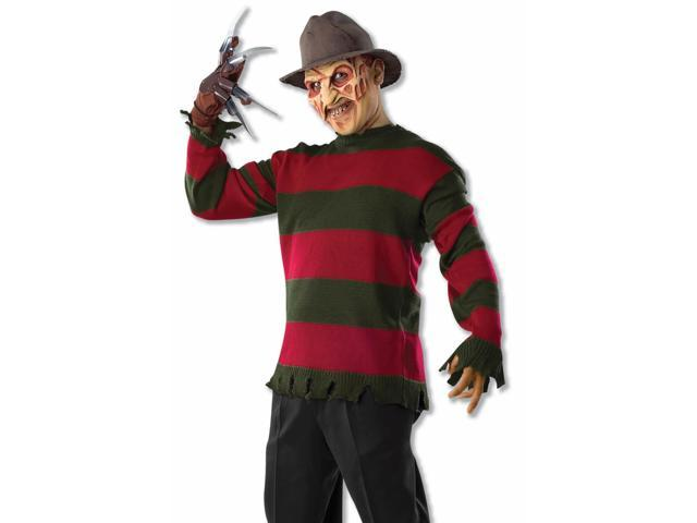 Nightmare On Elm Street Freddy Kruger Costume Sweater Adult One Size Fits Most