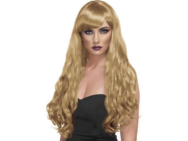 Desire Long Curly Costume Wig Adult Blonde One Size