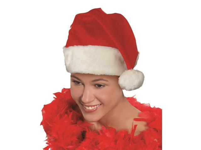 Deluxe Santa Hat Christmas Costume Accessory One Size Fits Most