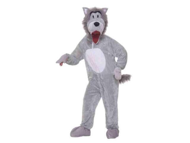 Story Book Wolf Plush Adult Costume One Size Fits Most