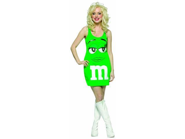 M&M Candy Green Tank Dress Costume Adult Standard