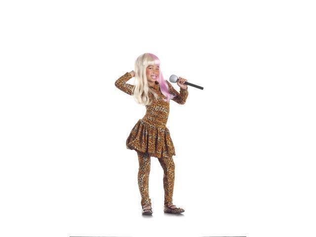 Leopard Rap Superstar Costume Child Small 4-6