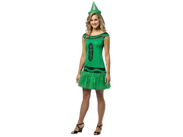 Crayola Glitz & Glitter Dress Costume Teen: Illuminating Emerald Teen 13-16