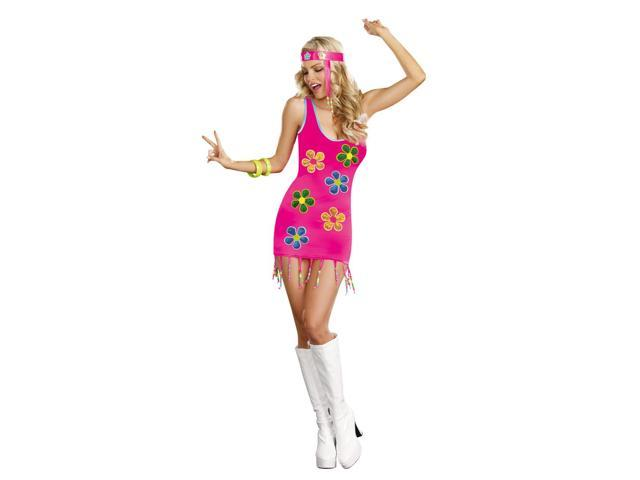 Sexy Groovy Baby 60's Costume Dress Adult Large