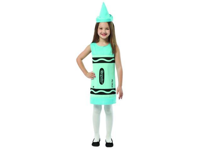 Crayola Sky Blue Tank Costume Dress Child Small 4-6X