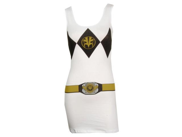 Power Rangers I Am White Ranger Tank Dress Adult Medium