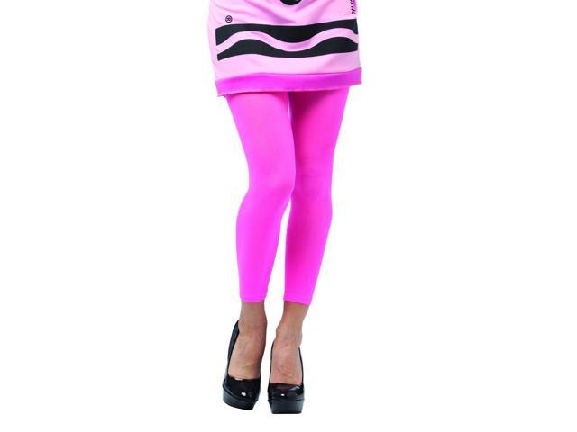Crayola Tickle Me Pink Footless Tights Costume Accessory Adult One Size