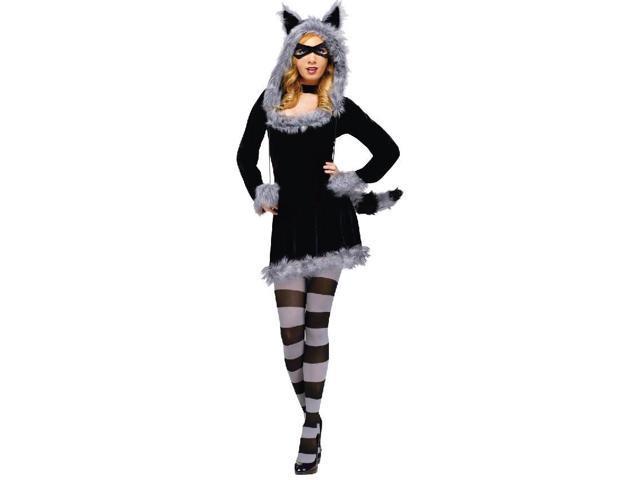 Racy Raccoon Sexy Dress Costume Adult Small/Medium 2-8