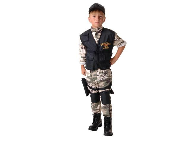 SEAL Team Light Camo Uniform Standard Child Large 10-12
