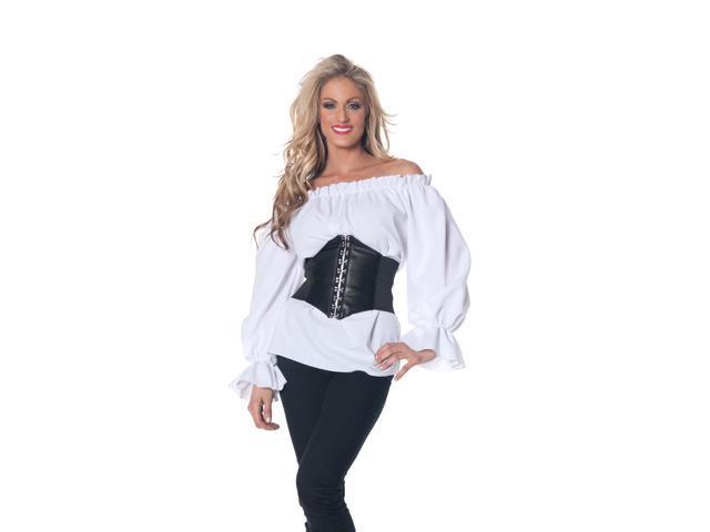 Renaissance Long Sleeve White Blouse Adult Medium