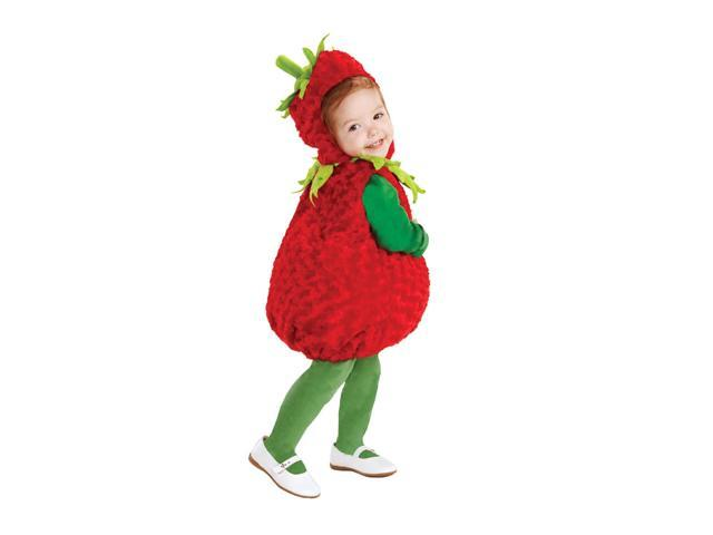 Belly Babies Strawberry Costume Child Toddler Medium 18-24 Months