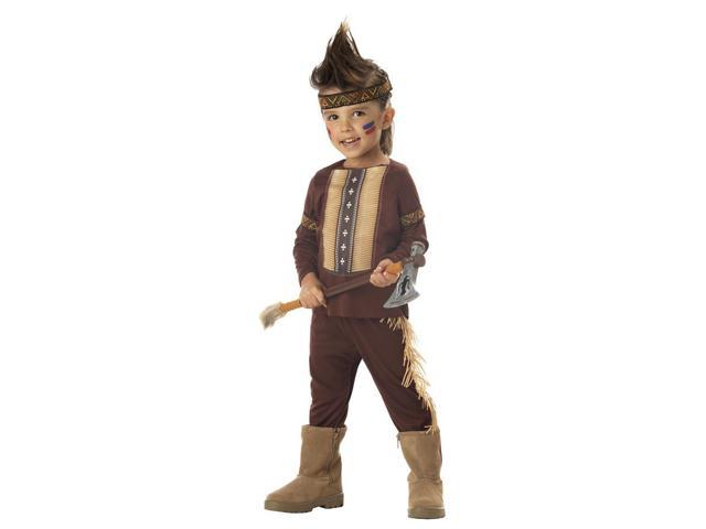 Lil' Warrior Indian Boy Child Costume Toddler Medium 3-4T