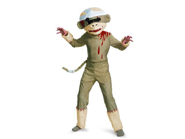 Zombie Sock Monkey Costume Child 4-6
