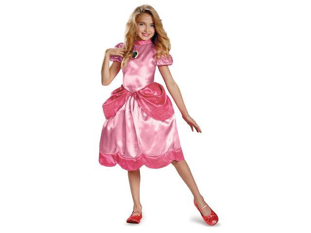 Super Mario Bros. Classic Princess Peach Child Costume 3T-4T