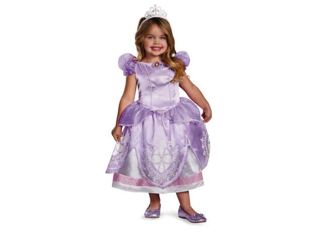 Disney Sofia The First Deluxe Sofia Costume Child Toddler Medium (3T-4T)