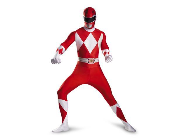 Power Rangers Deluxe Red Ranger Bodysuit Costume Adult X-Large (42-46)