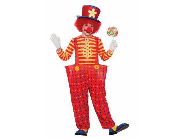 Hoopy The Circus Clown Costume Child Medium