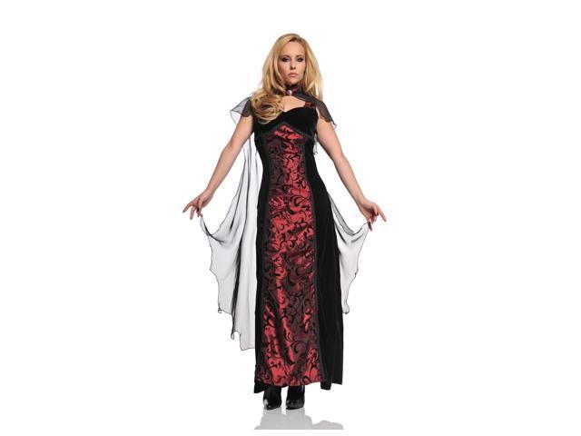 Tempest Gothic Velvet & Satin Dress With Cape Costume Adult Medium