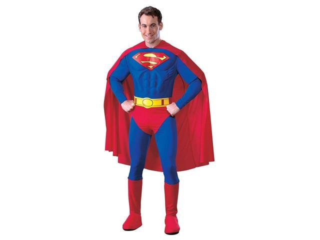 Superman Deluxe Muscle Chest Costume Adult Small