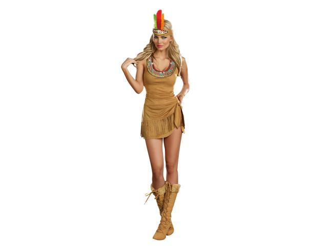 Sexy Queen Of The Tribe Native American Costume Dress Adult X-Large