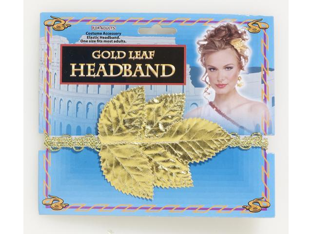 Gold Roman Leaf Costume Headband Adult One Size