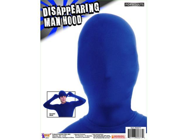Disappearing Man Costume Hood: Blue One Size