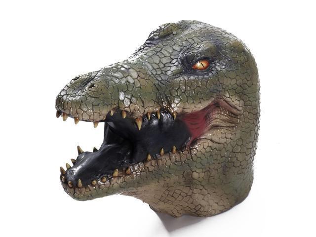 Alligator Costume Latex Mask Adult One Size