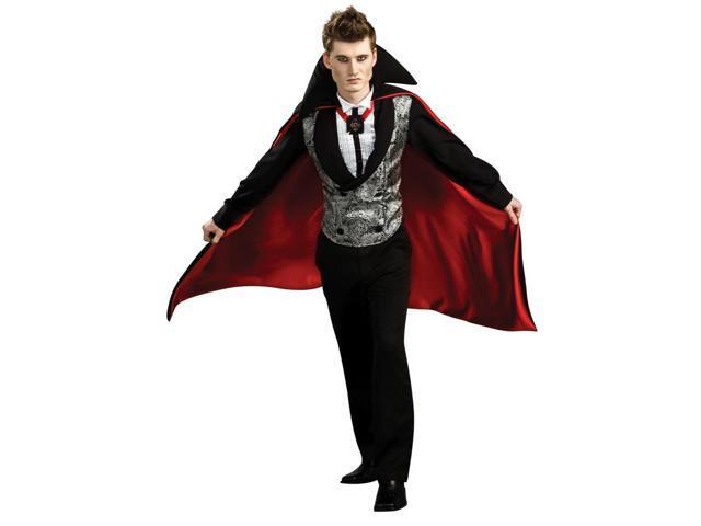 Nightfall Vampire Dracula Vest & Cape Costume Adult Standard