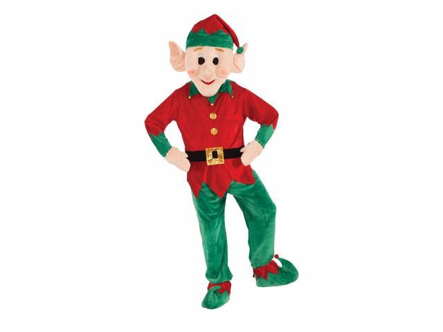 Christmas Elf Mascot Costume Adult One Size Fits Most