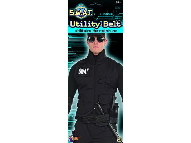 S.W.A.T. Costume Utility Belt Adult One Size Fits Most
