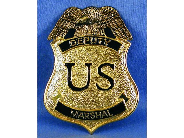 Deputy Marshal Costume Pin Badge One Size