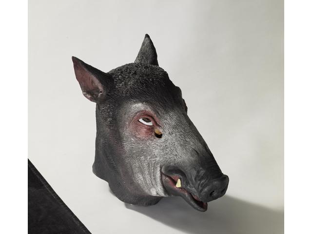 Deluxe Latex Animal Mask Adult: Wild Boar One Size