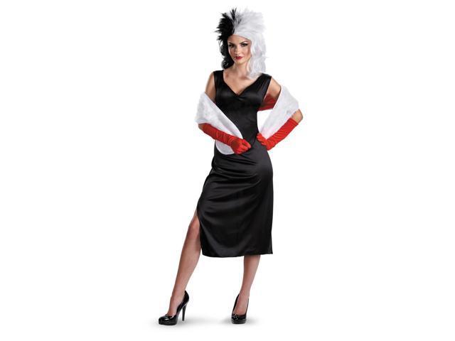 101 Dalmatians Disney Cruella De Vil Adult Costume 12-14