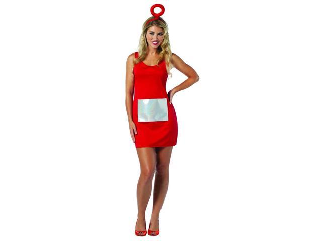 Teletubbies Po Red Tank Mini Dress Costume Adult One Size Fits Most