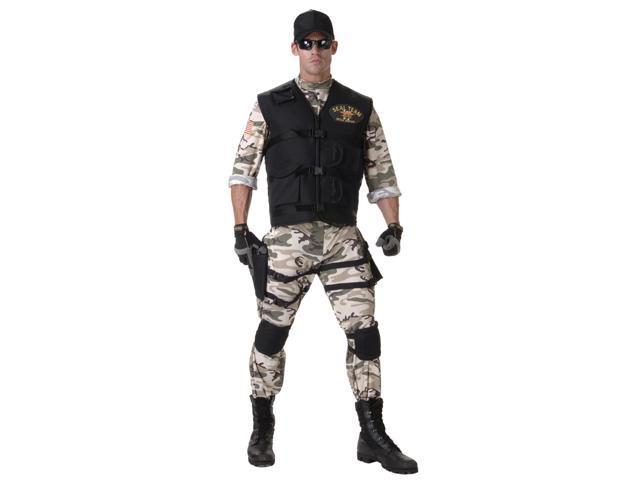 SEAL Team Light Camo Uniform Costume Standard Teen Teen 14-16