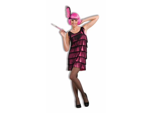 Jazzy Pink Roaring 20's Flapper Costume Dress Adult Medium/Large