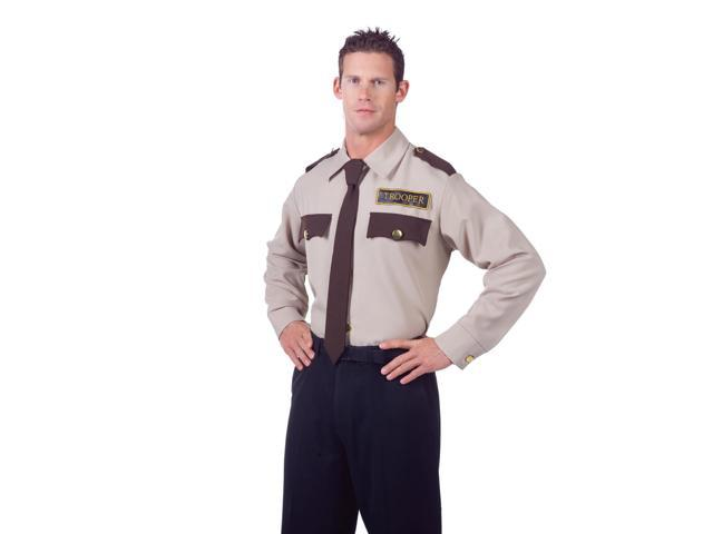 Police Trooper Costume Uniform Shirt Adult One Size Fits Most