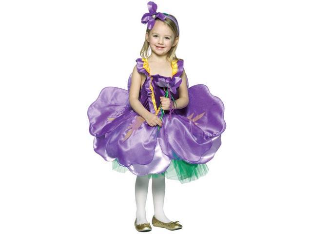 Iris Flower Dress Costume Child 4-6X