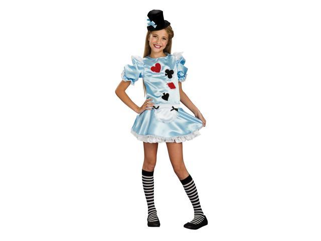 Alice In Wonderland Dress Costume Tween Small