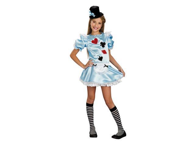 Alice In Wonderland Dress Costume Tween Small